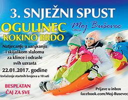 Spremni za 3. Snježni spust u Ogulincu